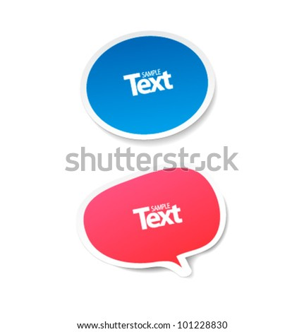 illustration of chat bubble - stock vector