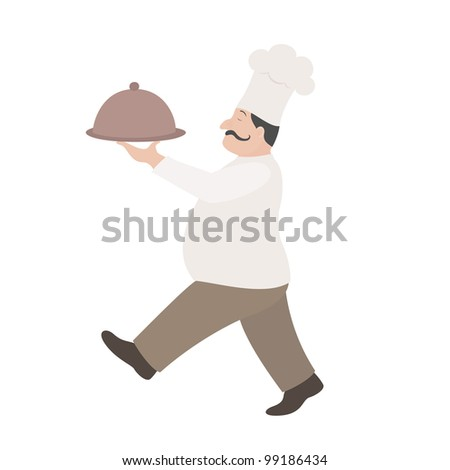 Illustration of chef - stock vector
