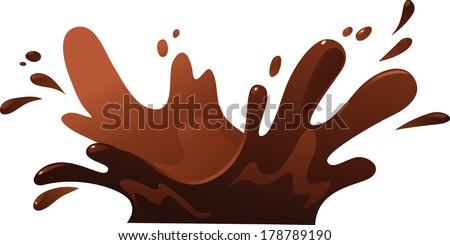 Illustration of Chocolate Splash - stock vector