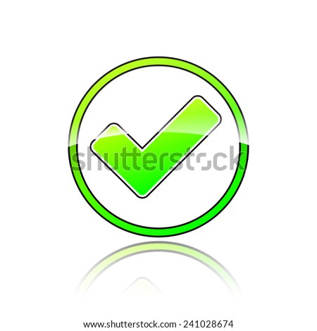 illustration of circle green check mark icon