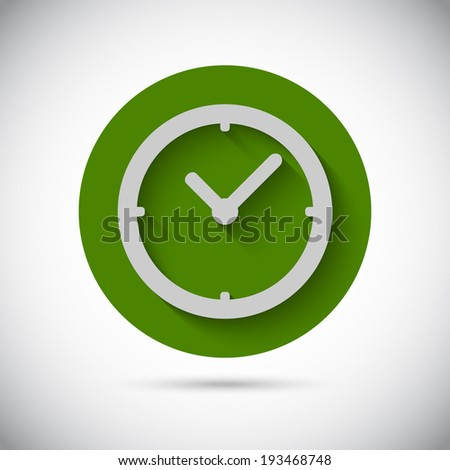 Illustration of Clock watch flat vector icon
