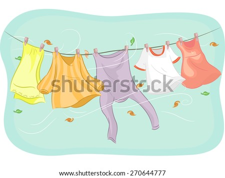 Hanging Laundry Stock Images Royalty Free Images