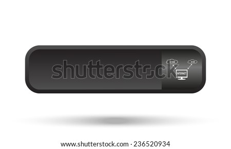 illustration of cloud storage black button for a site, vector