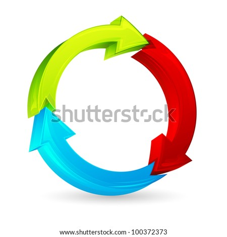 illustration of colorful arrow on white background
