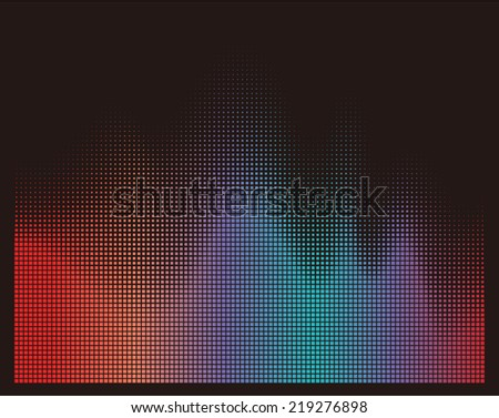 illustration of colorful musical bar showing volume on black background. You can use in club, radio, pub, party, DJ, concerts, recitals or the audio technology advertising background.  - stock vector