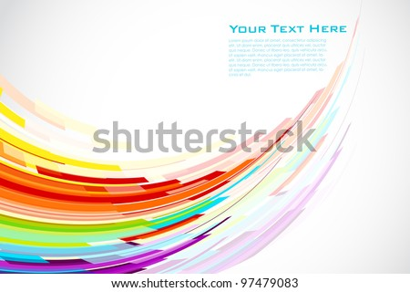 illustration of colorful stripe on abstract background