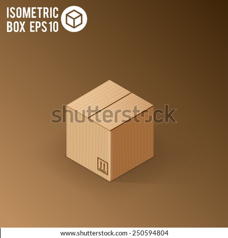 illustration of colorfull open box - stock vector