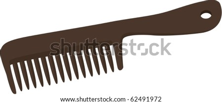 illustration of comb on a white background