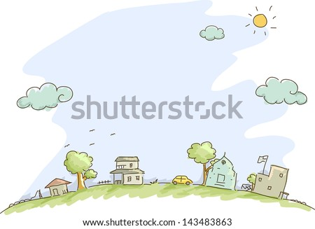Illustration of Community Sketch Background
