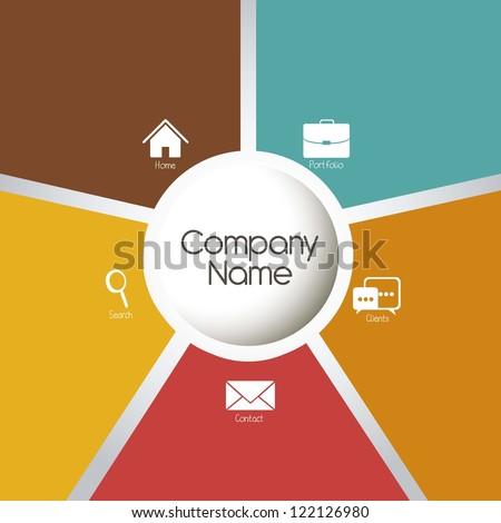 illustration of company's portfolio of services, web template, vector illustration - stock vector
