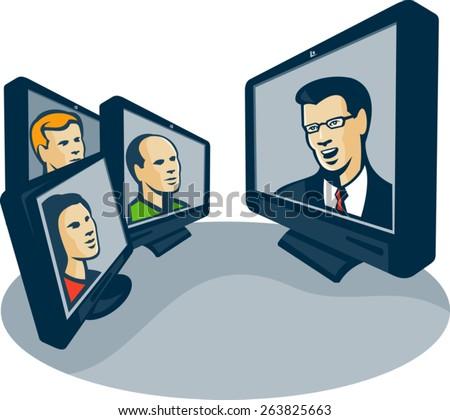 video conferencing clip art � cliparts