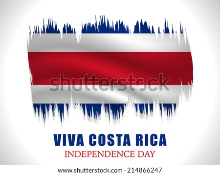 Illustration of Costa Rica Flag in grunge background