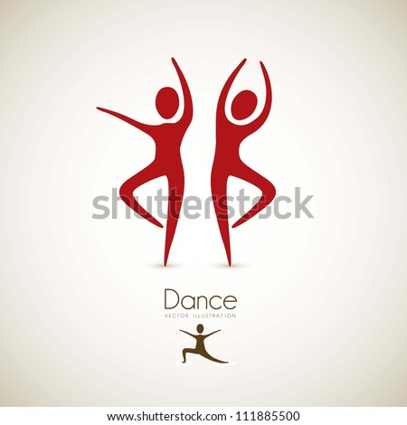 Illustration of couples dance positions, vector illustration - stock vector