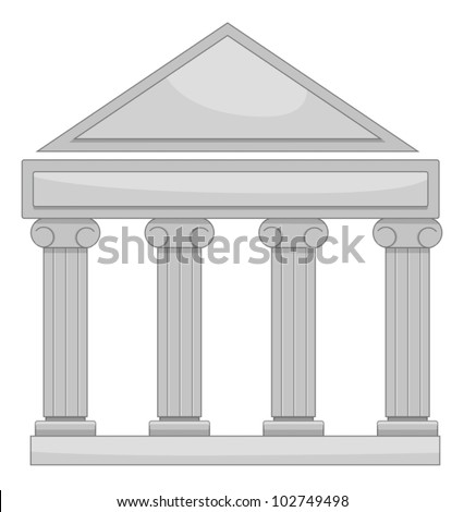 Illustration of court of law - stock vector