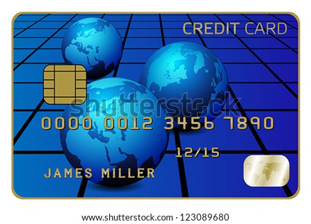 Illustration of Credit Card Isolated on White