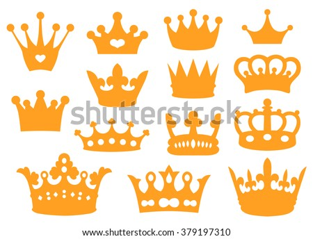 Illustration of crowns - stock vector