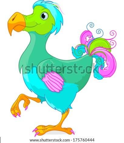Illustration of cute Dodo bird  - stock vector
