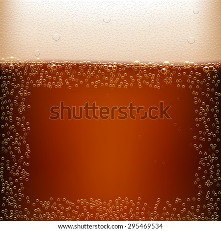 illustration of dark beer background with clear  - stock vector