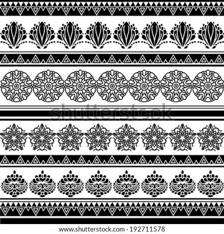 Illustration of decorative aboriginal pattern - stock vector