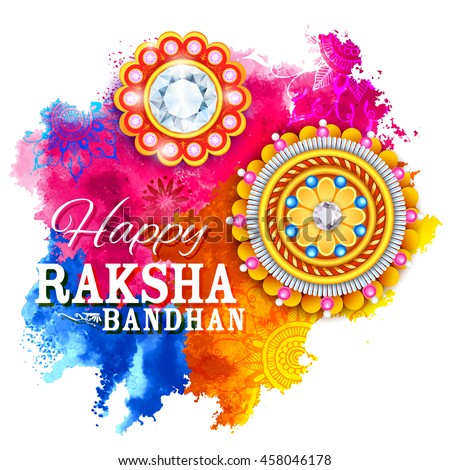 illustration of decorative Rakhi for Raksha Bandhan, Indian festival for brother and sister bonding celebration