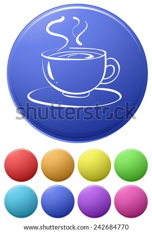 Illustration of different color icons of drink