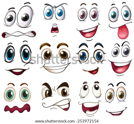 Eye Nose Eyelashes Stickers For Crafts