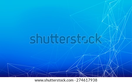 Illustration of digital neural network (vector image) - stock vector
