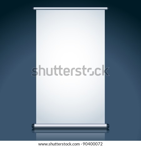 illustration of display board with stand on abstract background - stock vector