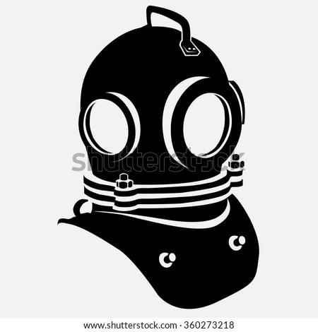 Stock Vector Gas Mask And Deep Diver S Helmet Vector Illustration