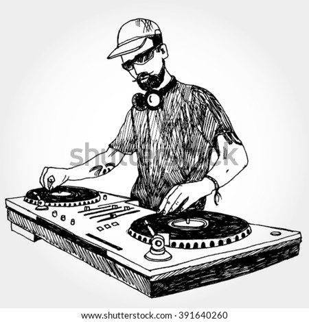 Illustration of DJ
