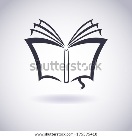 Illustration of Download book. E-book icon. Vector - stock vector