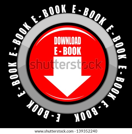 Illustration of Download e book - stock vector