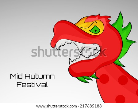 Illustration of Dragon for Mid Autumn Festival or Moon Cake Festival