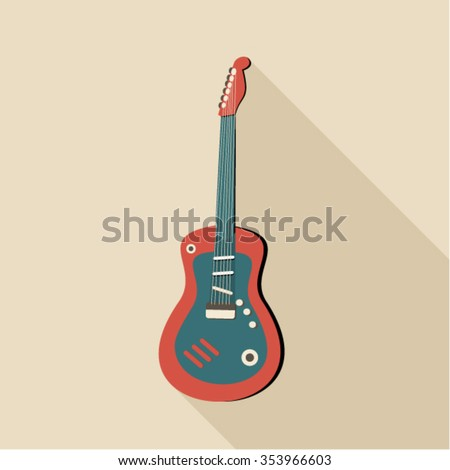 illustration of electro guitar