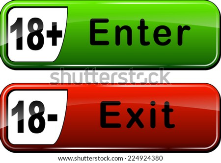 Illustration of enter and exit web buttons