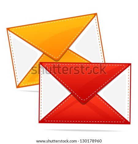 illustration of envelope isolated on white background - stock vector