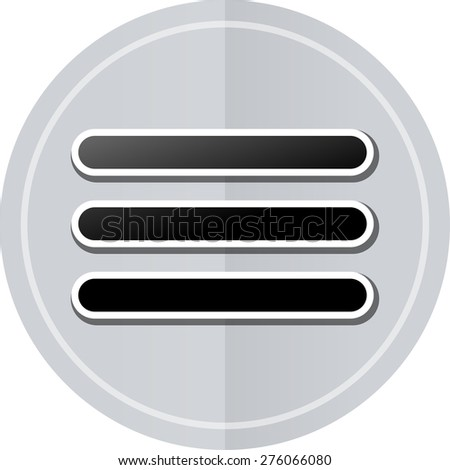 Illustration of expand sticker icon simple design