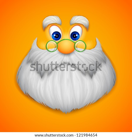 illustration of face Santa Claus wishing Merry Christmas - stock vector
