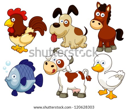 illustration of farm animals cartoon - Images Cartoon Animals