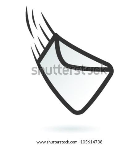 Illustration of fast delivered web mail - stock vector