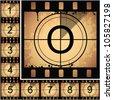 Illustration of film countdown. EPS 10. - stock vector