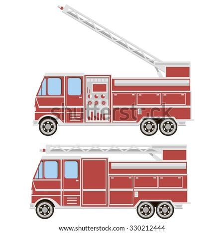 Illustration of Fire truck - stock vector
