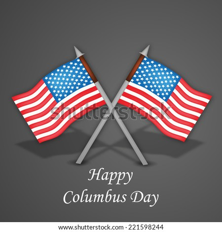 Illustration of Flags for Columbus Day