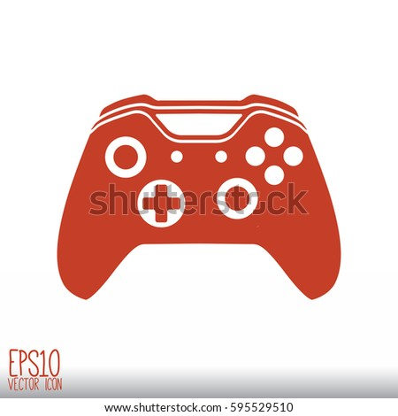 Illustration Flat Game Pad Icon Vector Stock Vector 585116071 ...