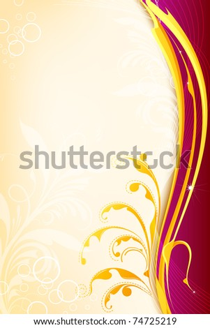 illustration of floral pattern on abstract background