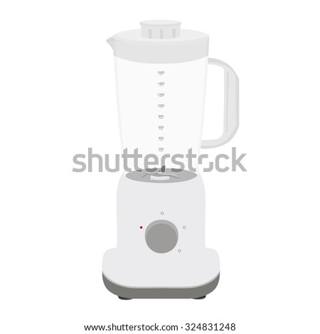 Illustration of fruit or vegetable blender . Appliance used in kitchens to mix and blend. Blender vector icon