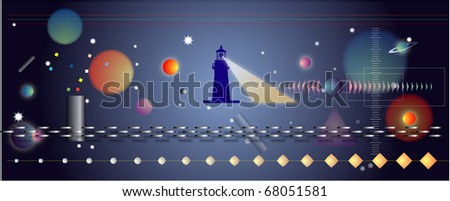 illustration of galaxy - stock vector