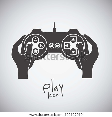 illustration of game controls, Video games Silhouettes, vector illustration - stock vector