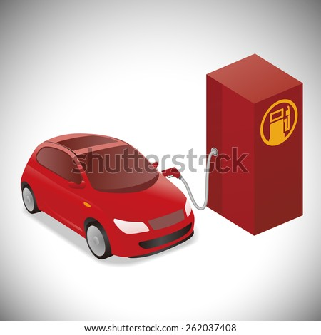 Illustration of Gasoline-Powered Vehicle - stock vector