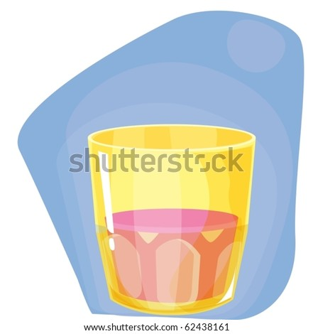 illustration of glass on a white background